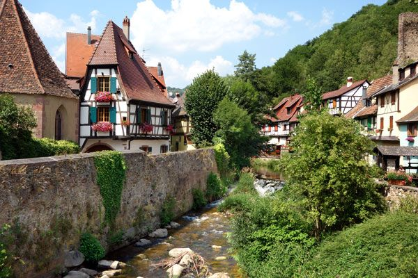 The Route du Vin is the Wine Road of Alsace. This region, between the Rhine River and the Vosges Mountains, has historically been fought over between Fra...