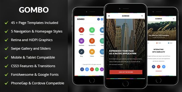 Gombo | Mobile & Tablet Responsive Template