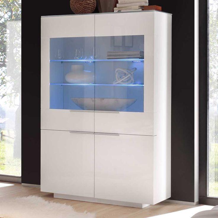 Ponad 25 najlepszych pomysłów na temat Standvitrine na - moderner wohnzimmerschrank mit glastüren und led beleuchtung