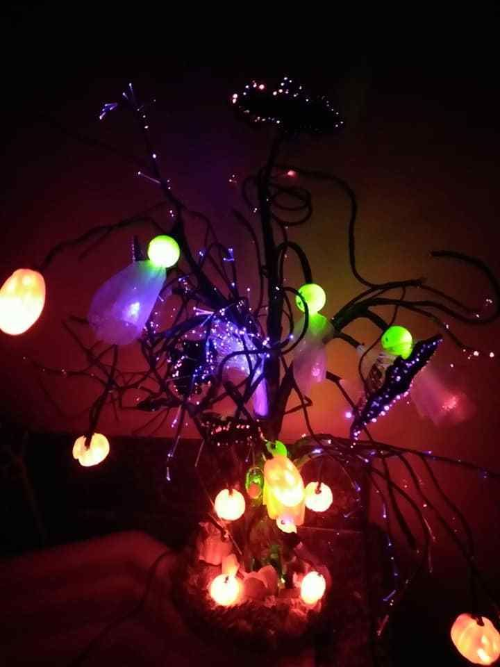 Avon Glowing Fiber Optic Halloween Tree Avon Halloween Hauntings