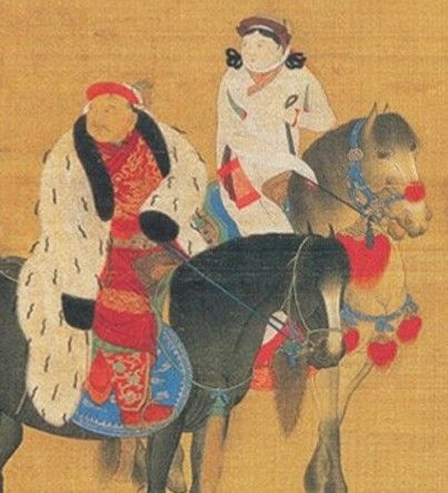 Kublai Khan (with his wife) was the fifth Great Khan of the Mongol Empire from 1260 to 1294 and the founder of the Yuan Dynasty. As the second son of Tolui and Sorghaghtani Beki and a grandson of Genghis Khan. By the time of Kublai Khan, the racial make-up of modern China is well on the way.
