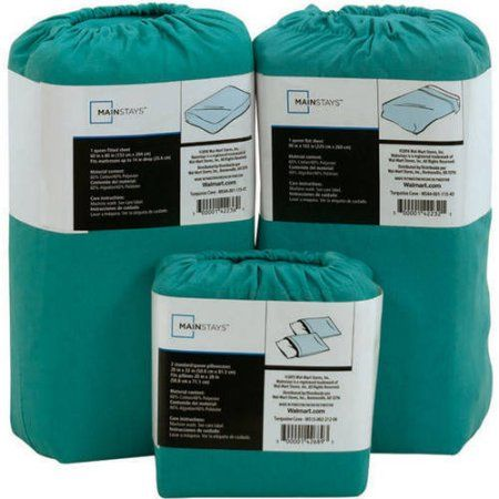 Mainstays 200-Thread Count Sheet Collection, Open Stock, Blue