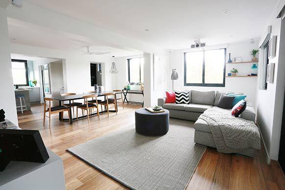 The Block Sky High: Room Reveal: Bec + George's living room