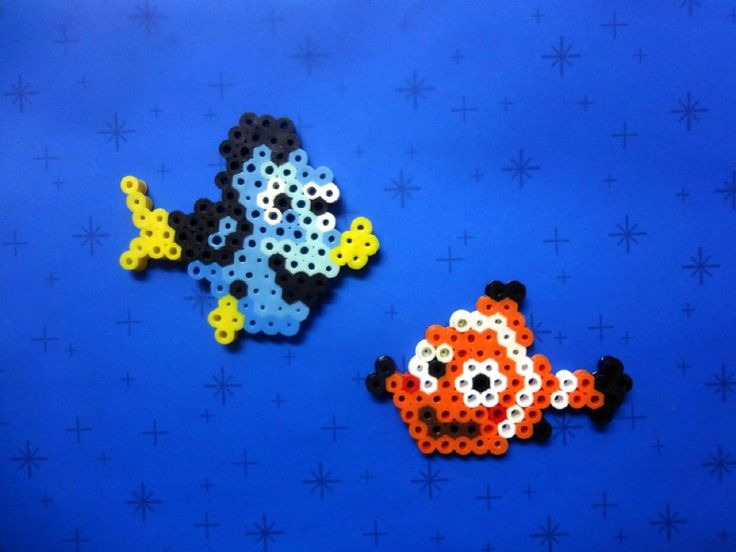 Dory and Nemo - Finding Dory perler beads