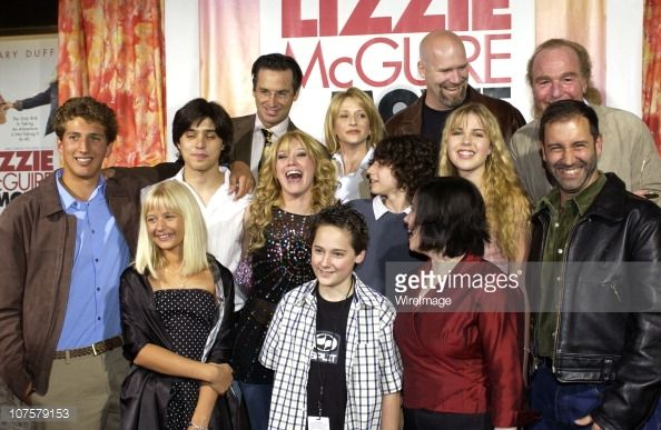 The Lizzie McGuire Movie cast with Producer Stan Rogow (top far Right) and Jim