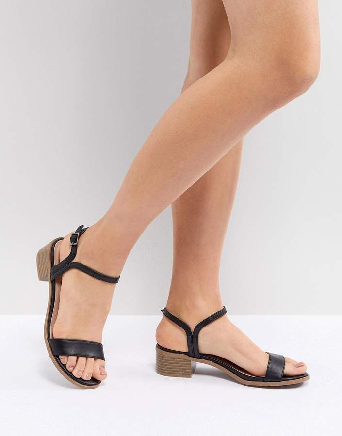 e74c6fc6118f New Look Low Block Heel Sandal