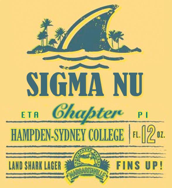Sigma Nu Custom Land shark logo H-SC – kewler