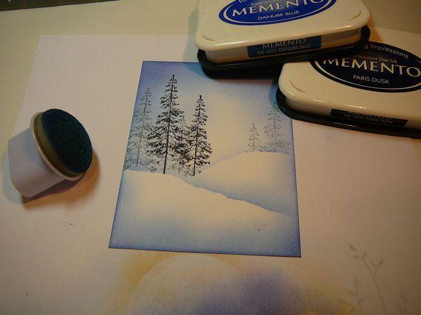 Very Blue Christmas - tutorial - bjl
