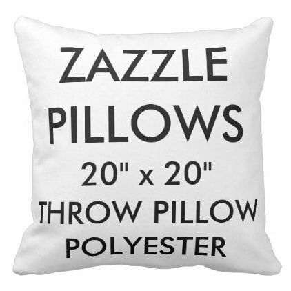 Zazzle Custom Large Polyester Throw Pillow - decor gifts diy home & living cyo giftidea