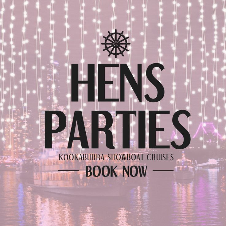 Hen's Parties on the Brisbane River!  We have awesome new fun Hen's Party games to play on board the Kookaburra Queens. Great for all ages! Whether you choose a sophisticated high tea cruise or a fun filled dinner cruise you will never forget this special day!  BOOK NOW! (07) 3221 1300  #brisbaneriver #kookaburraqueen #functions #venue #brisbane  #event #water #boat #cruise #lights #pretty #city #weddings #functions #events #dinner #hightea #Wedding #cruise #boat #flowers #romance #hens…