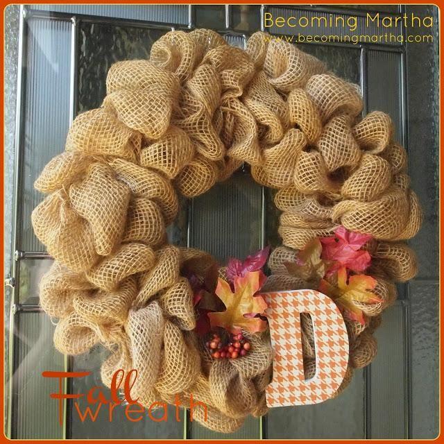 DIY Home Decor DIY Fall Crafts : DIY Fall Burlap Wreath
