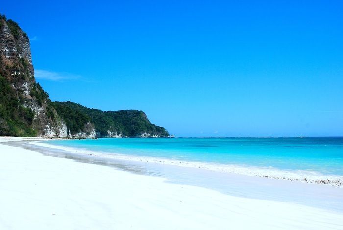 Terambing bay: An untouched azure beach lies on the southeast coast of Sumba. (Photo by Electra Gillies)