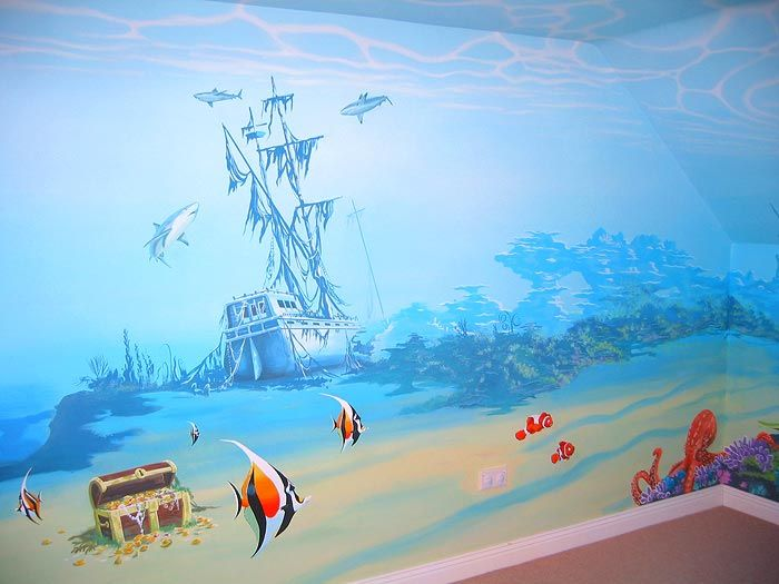 under the sea mural.