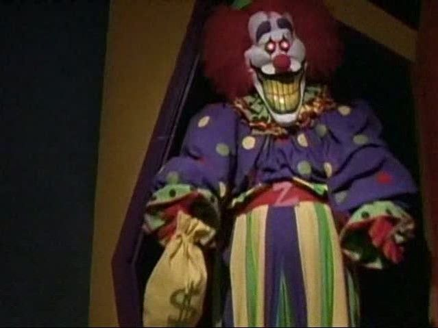 "Zeebo is the Clown who appeared in ""The Tale of Laughing in the Dark"" is referenced in several other stories, for example, in the episode ""The Tale of the Whispering Walls"", two children mention seeing him at a fun park, in the episode ""The Tale of the Mystical Mirror"", a girl says she will look like Zeebo if she wears too much lipstick, and in the episode, ""The Tale of the Crimson Clown"" in the boys room a video game called Zeebo's Big House can be seen on the desk with a picture of…"