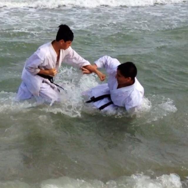 Corpus Christi Downtown Karate Beach Training - Kumite