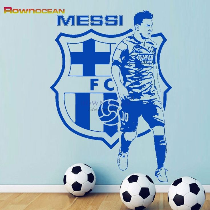 Camouflage Messi Football Star Barcelona Wall Stickers DIY Removable Decals Vinyl Home Decor  FC Player Kickers Murals D526 //Price: $13.59 & FREE Shipping //     #hashtag3
