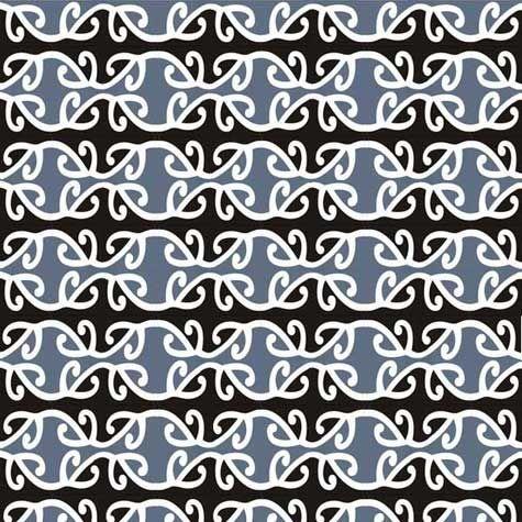 Maori patterns - silver fern or koru