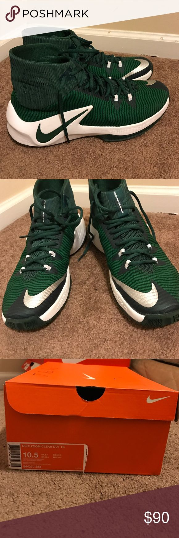 Nike zoom clear out tb Green basketball shoes Nike Shoes Athletic Shoes