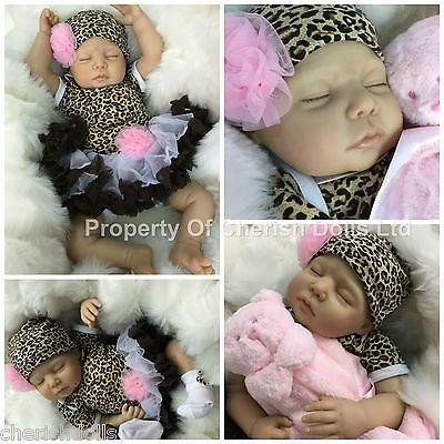 "CHERISH DOLLS CHILDS 1st REBORN BABY GIRL LOLA FAKE BABIES REALISTIC 22"" NEWBORN"