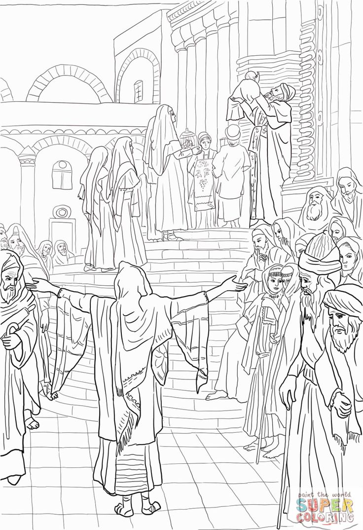 487 best catholic coloring pages for kids to colour images for Simeon and anna coloring page
