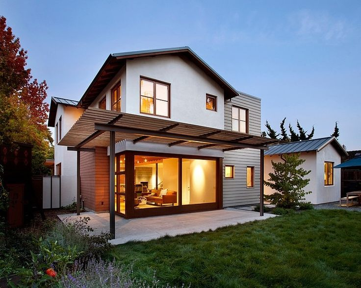 Palo Alto House by Arcanum Architecture - like the simple sheet of glass facing backyard. still private.