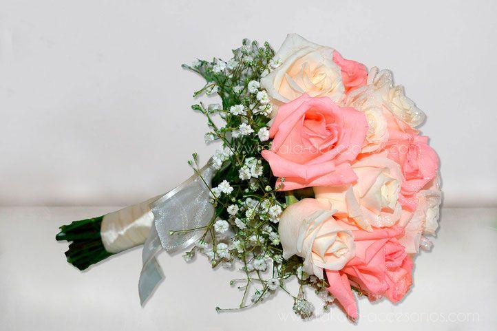 ramo novia, ramo casamiento, ramo boda, ramo rosas, ramo pastel, ramo flores naturales, bouquet de rosas, Villa Urquiza.