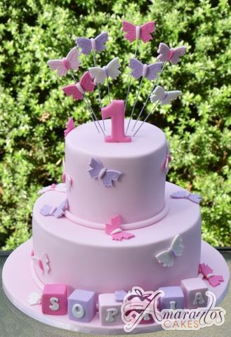 Two Tier Butterfly Cake - Amarantos Birthday Cakes Melbourne