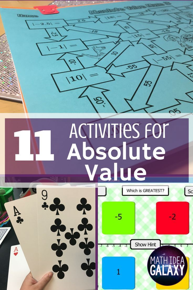 11 Activities that Make Learning Absolute Value A Snap | - Math ...