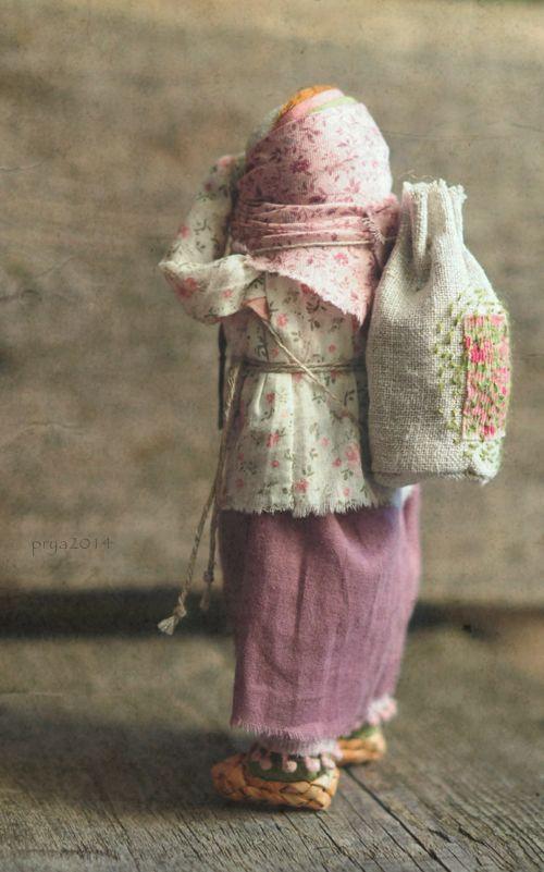 Кукла-образ. Домотканое полотно,хлопок,лён,шерсть,береста, ручная набойка. Январь,2014г. В частной коллекции. Яна Волкова