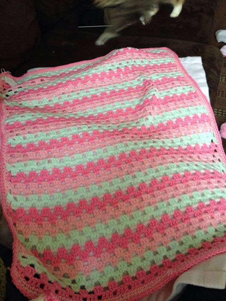 Crochet Pram Blanket - The Supermums Craft Fair