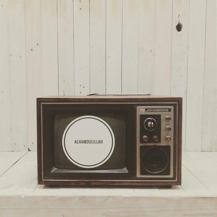Vintage television #vintage #decor