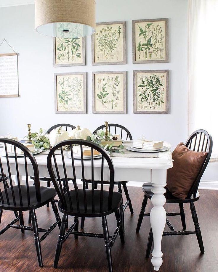 "426 Likes, 4 Comments - Joss & Main (@jossandmain) on Instagram: ""Black + white + botanicals = ❤️ Thanks for inviting us into your farmhouse #diningroom,…"""