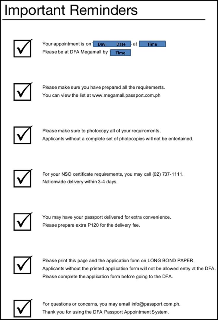 Passport application dfa megamall list requirements needed for the visa interview pages