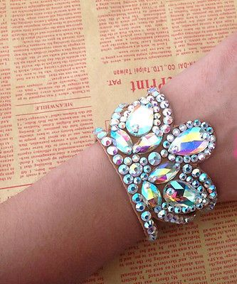 BD1 Women Competition Latin Cha Cha Tango Watlz Arm Band Accessories Crystal
