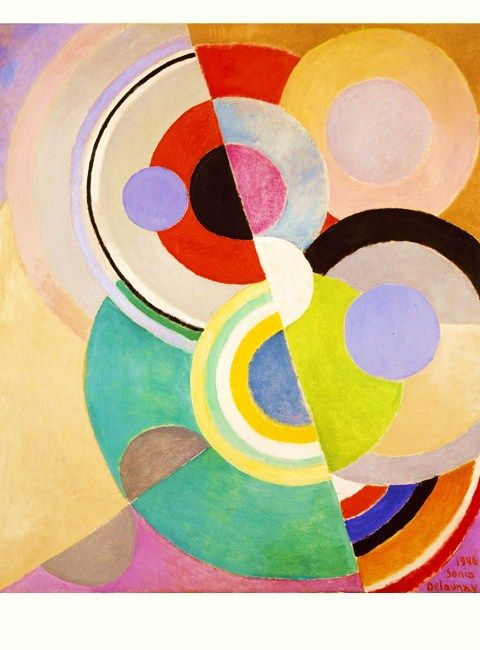 Sonia Delaunay oil paining called 'Colored Rhythm'. I first learnt about this artist when I was researching an art deco project. I really like the geometric shapes she has created and her use of both muted and bold colours.