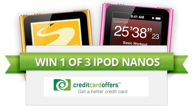 ★ ★ ★ WIN 1 of 3 IPOD NANOS ★ ★ ★ #ipod #giveaway #competition #free #creditcardoffers