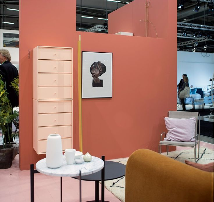 Living room area from the Stockholm Furniture Fair. #montana #furniture #danish #design #2016sff #2016sdw #shelving #colours #home #decor #exhibition