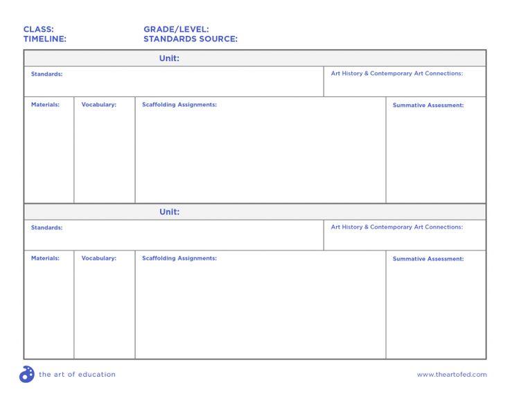 blank curriculum template