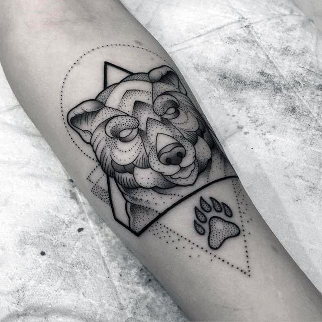 The 25 Best Ideas About Geometric Bear Tattoo On