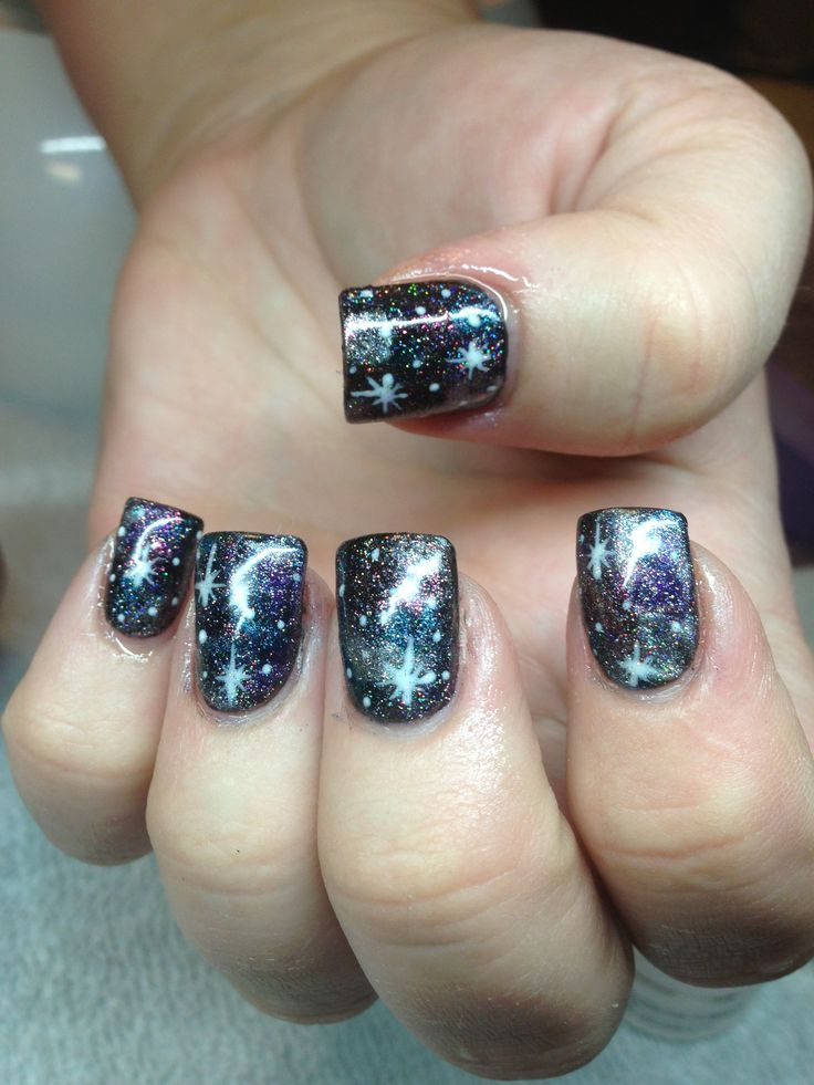 85 best Sky/space nails images on Pinterest | Space nails, Falling ...