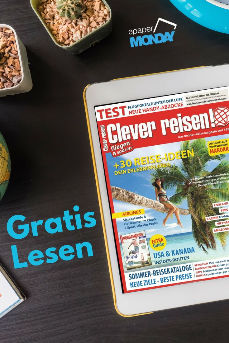Ab in den Süden! Wir träumen schon mal vom Sommerurlaub... 😎 Habt ihr auch schon Pläne gemacht?  🏖 Mit dem Code WEIT & der gratis Ausgabe von Clever reisen! könnt ihr gleich damit anfangen: https://www.united-kiosk.de/epaperMonday/