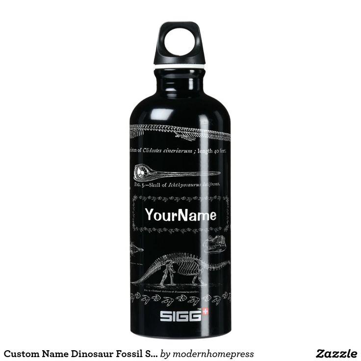 Custom Name Dinosaur Fossil SIGG Bottle 0.6 & 1.0 SIGG Traveler 0.6L Water Bottle