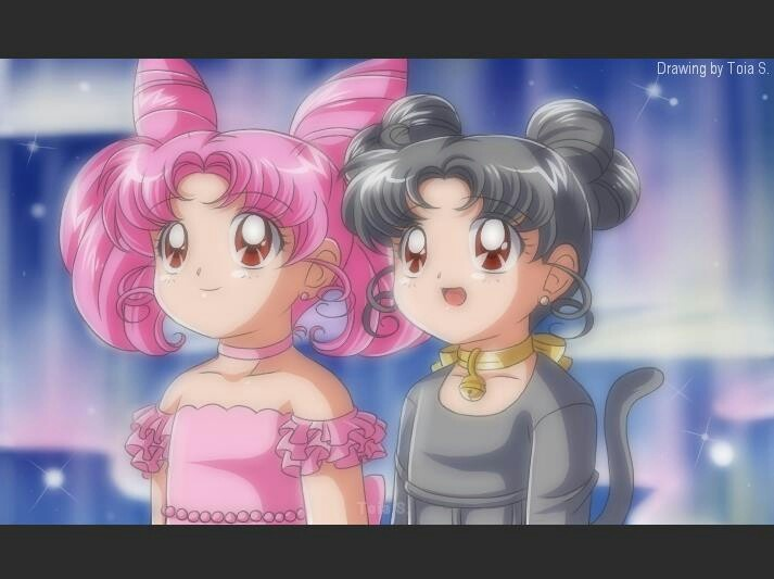 Rini and Diana in human form | My Sailor Moon Couples Addiction ...