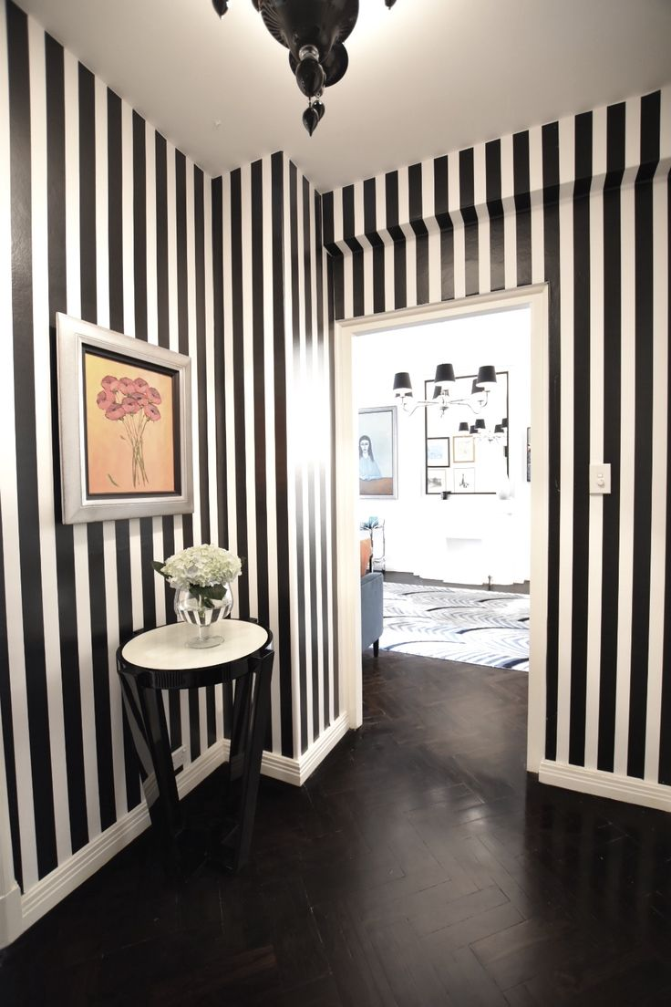 Our Monochromatic hallway in Potts Point