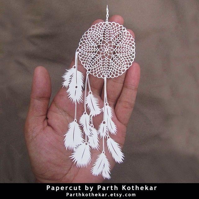 #intricate #papercut #dreamcatcher #handmade #handcut #paper #craft #illustration #white #cute #paper #art #papercutting #papercraft #follow #etsy #shop #parthkothekar #etsyseller