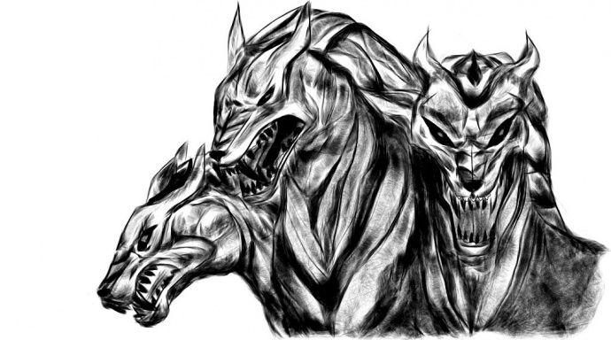 Рисунок - цербер - Drawi.ru