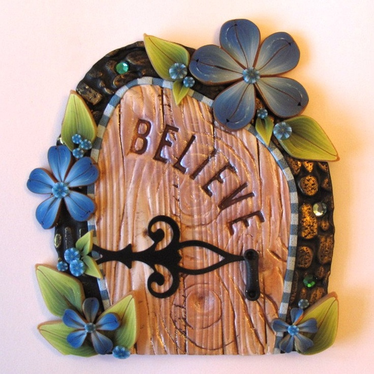 17 best images about polymer clay fairys friends on for Fairy door wall art
