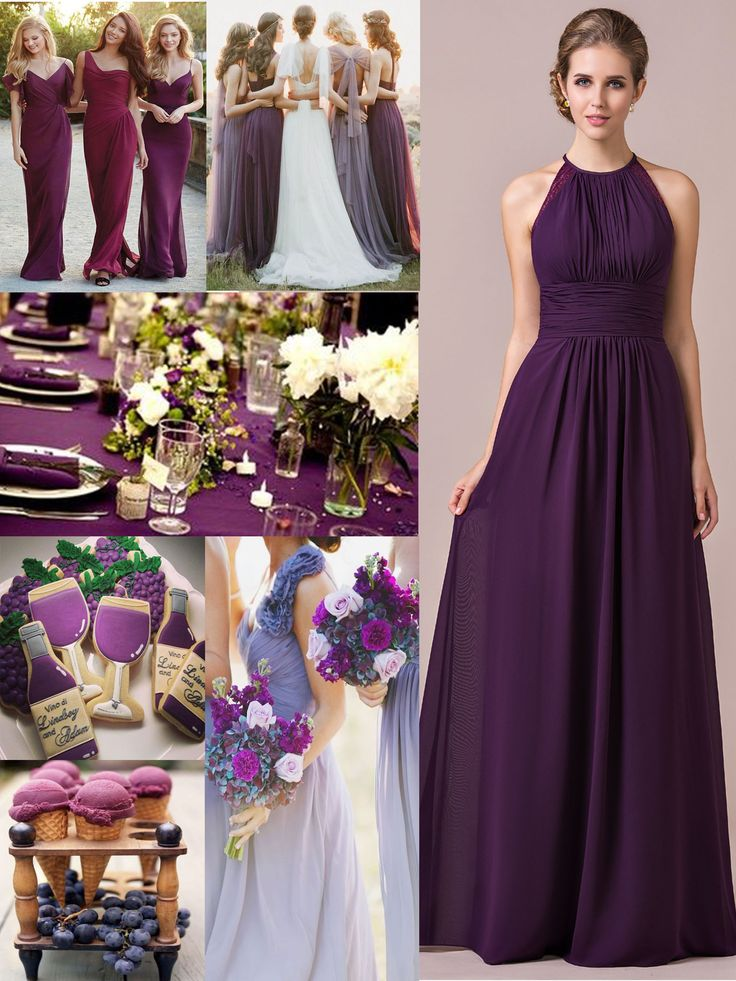 Grape bridesmaid dress,the 2017 most popular bridesmaid dress color. #JJsHouse