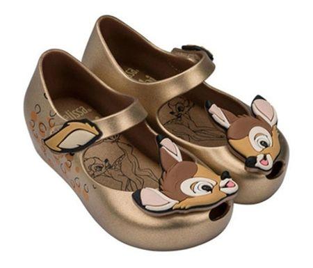 808358f5ca1 MINI MELISSA BAMBI SHOES IN METALLIC GOLD at honeypiekids.com  minimelissa   bambi  scentedshoes  girlsshoes  childrensboutique