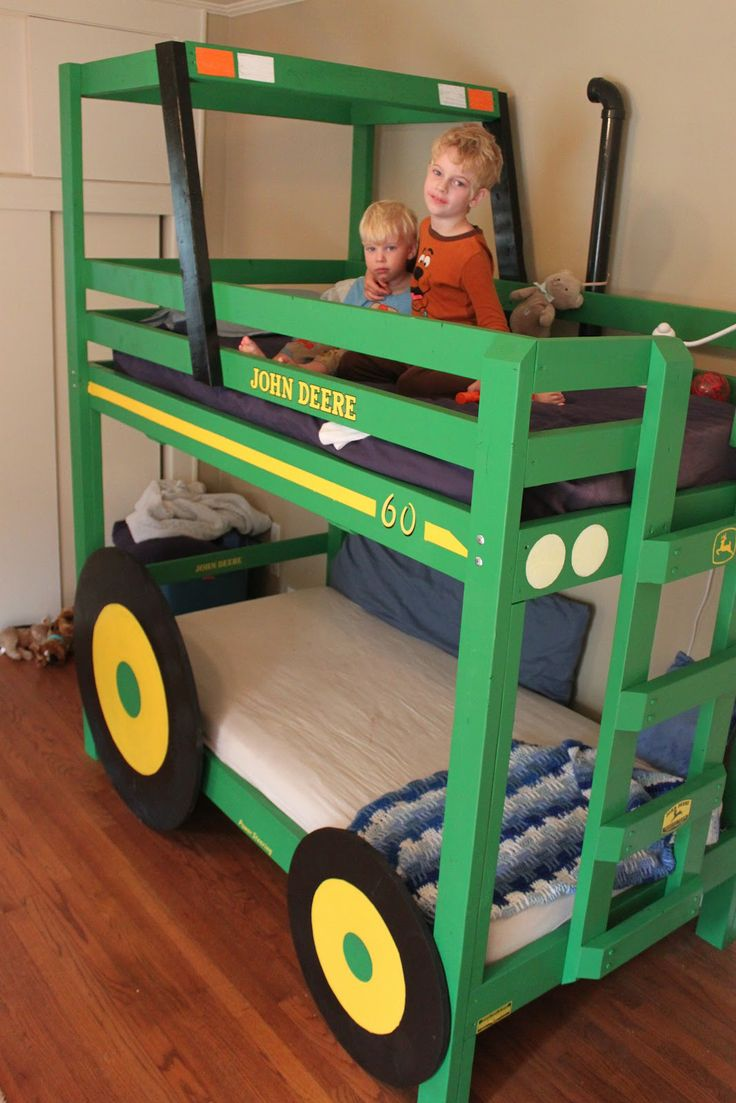 way cool Tractor bunk bedTractors Bunk, Deer Tractors, Homemade John, Kids Stuff, Boys Bedrooms, Bunk Beds, Kids Room, John Deer, Boys Room
